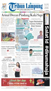 Tribun Lampung Cover 23 May 2020