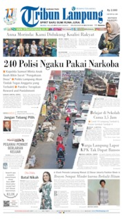 Tribun Lampung Cover 07 July 2020
