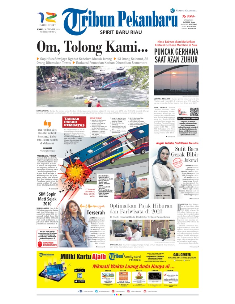 Tribun Pekanbaru Digital Newspaper 26 December 2019