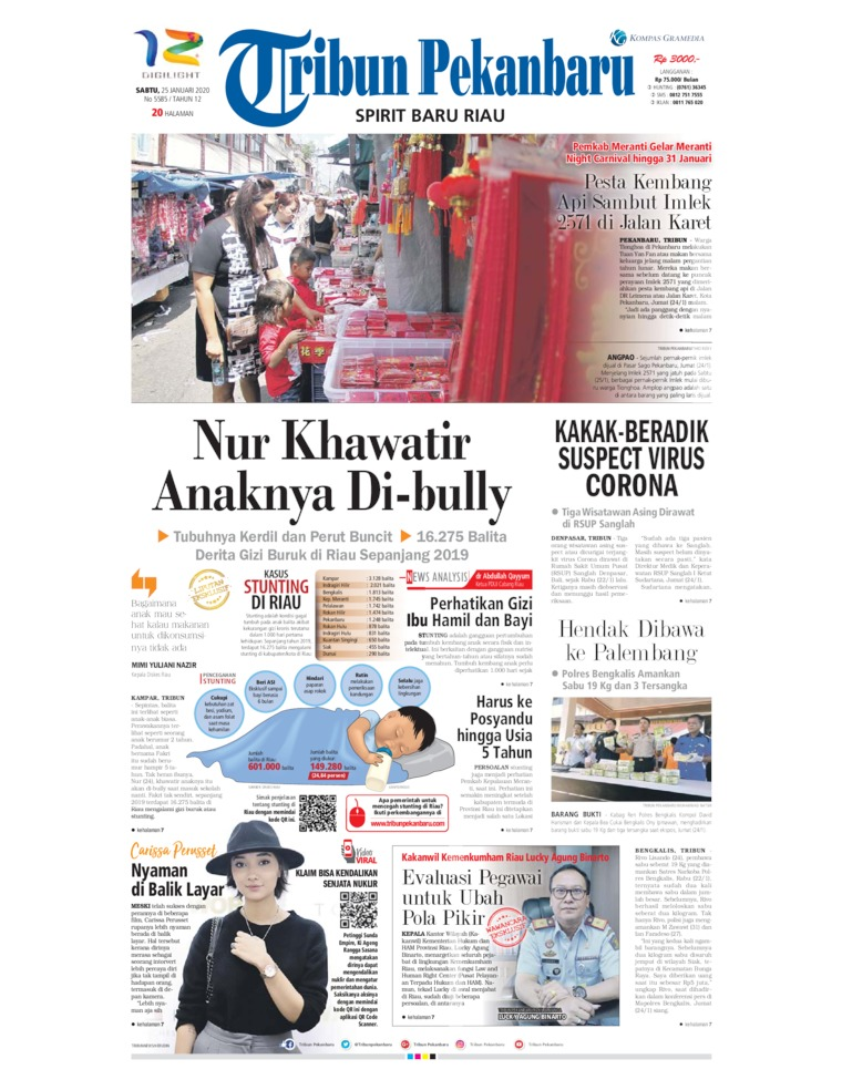 Tribun Pekanbaru Digital Newspaper 25 January 2020