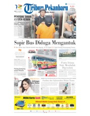 Cover Tribun Pekanbaru 15 November 2019