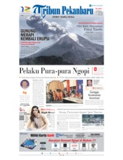 Cover Tribun Pekanbaru 18 November 2019
