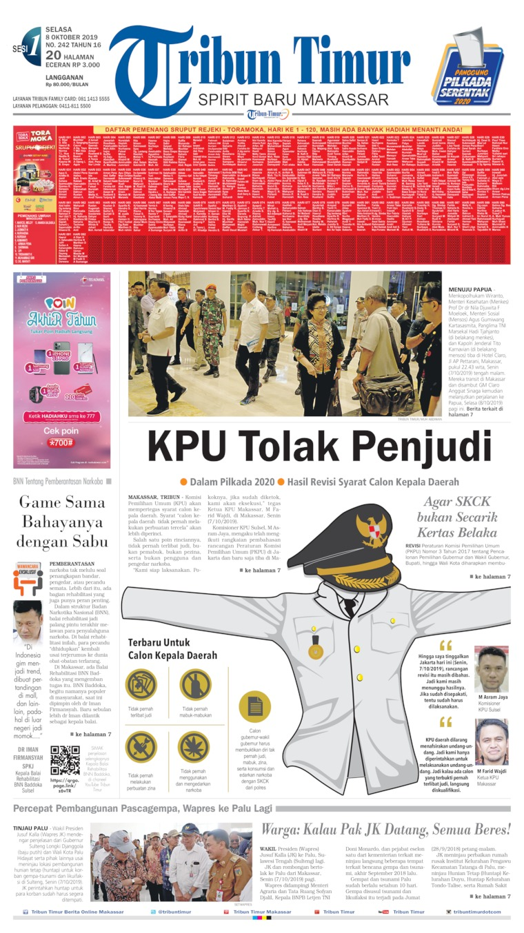 Tribun Timur Digital Newspaper 08 October 2019