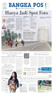 Bangka Pos Cover 12 November 2019
