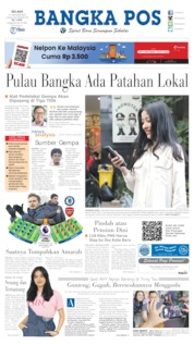 Bangka Pos Cover 21 January 2020