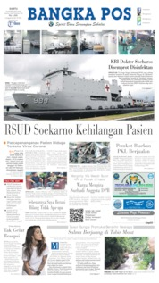 Bangka Pos Cover 22 February 2020