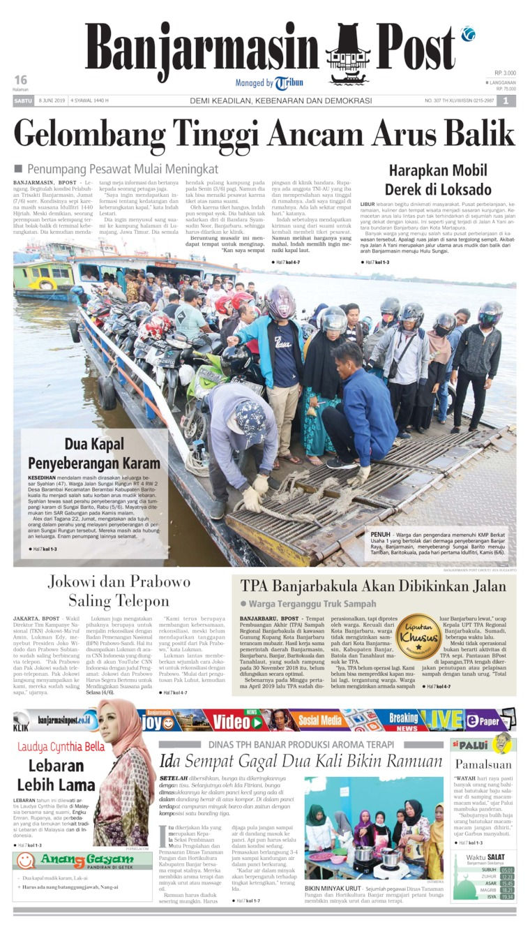 Koran Digital Banjarmasin Post 08 Juni 2019