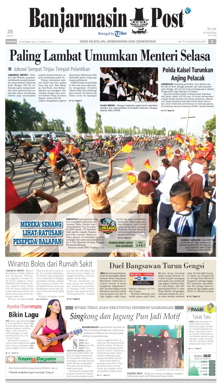 Banjarmasin Post Digital Newspaper 20 October 2019