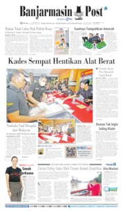 Banjarmasin Post Cover 21 January 2020