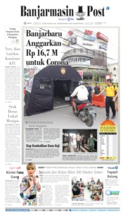 Cover Banjarmasin Post 28 Maret 2020