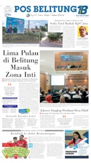 Cover Pos Belitung 07 November 2019