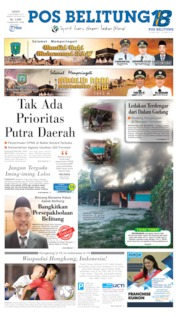 Cover Pos Belitung 08 November 2019