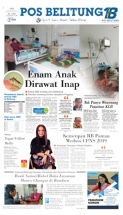 Cover Pos Belitung 13 November 2019