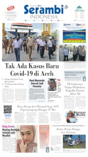 Serambi Indonesia Cover 13 May 2020