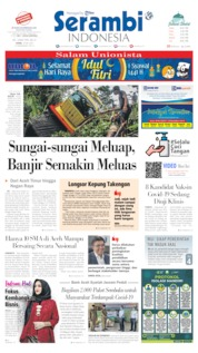 Serambi Indonesia Cover 18 May 2020
