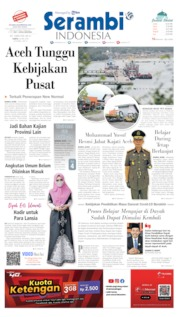 Serambi Indonesia Cover 30 May 2020