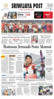 Sriwijaya Post Cover 09 December 2019