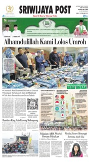 Sriwijaya Post Cover 29 February 2020