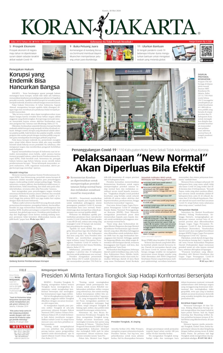 Koran Jakarta Digital Newspaper 28 May 2020