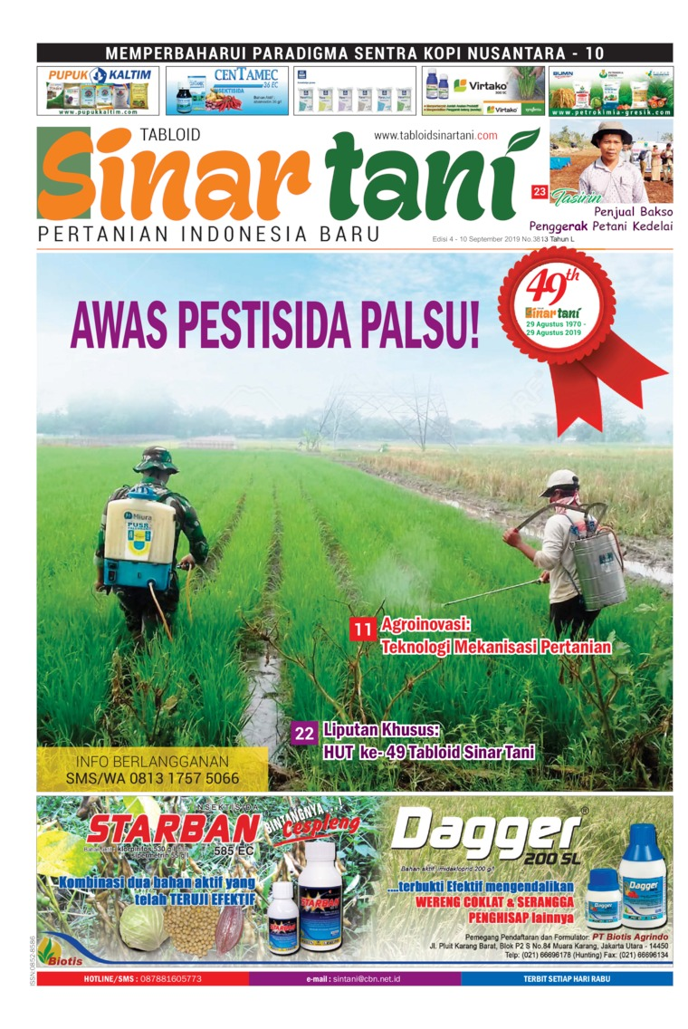 Majalah Digital Sinar tani ED 3813 September 2019
