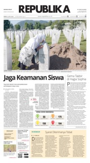 Cover Koran Republika 13 Juli 2020